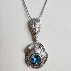 Silpada Italy HG SterlingHooked on blue necklace